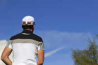 Danny Willett (ENG) on the 18th tee during Saturday's Round 3 of the 2018 Omega European Masters, held at the Golf Club Crans-Sur-Sierre, Crans Montana, Switzerland. 8th September 2018.<br /> Picture: Eoin Clarke | Golffile<br /> <br /> <br /> All photos usage must carry mandatory copyright credit (&copy; Golffile | Eoin Clarke)