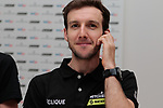 Simon Yates (GBR) Mitchelton-Scott at the team press conference before the 2019 Tour de France starting in Brussels, Belgium. 5th July 2019<br /> Picture: Colin Flockton | Cyclefile<br /> All photos usage must carry mandatory copyright credit (© Cyclefile | Colin Flockton)