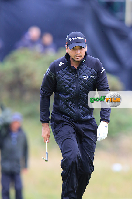 Jason DAY (AUS) on the 17th green during Monday's Final Round of the 144th Open Championship, St Andrews Old Course, St Andrews, Fife, Scotland. 20/07/2015.<br /> Picture Eoin Clarke, www.golffile.ie