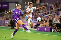 Orlando, FL - Wednesday September 11, 2019: Erin Greening, Yuki Nagasato , Orlando Pride vs  Chicago Red Stars at Exploria Stadium.