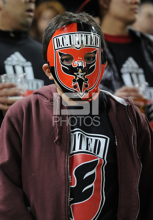 DC United fan.   The New York Red Bulls defeated DC United 4-0, at RFK Stadium, Saturday April 21, 2011.