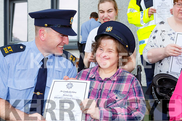 Garda Mike Milner presented Streetwise Programme certificate to Mairead Casey Kerry Parents and Friends member in Killarney Garda Station on Thursday