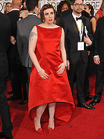Lena Dunham at the 72nd Annual Golden Globe Awards at the Beverly Hilton Hotel, Beverly Hills.<br /> January 11, 2015  Beverly Hills, CA<br /> Picture: Paul Smith / Featureflash