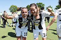 Sofie Junge Pedersen-Hilda Petronella Ekroth.  Celebration at the end of the match <br /> Verona 20-4-2019 Stadio AGSM Olivieri <br /> Football Women Serie A Hellas Verona - Juventus <br /> Juventus win italian championship <br /> Photo Daniele Buffa / Image Sport / Insidefoto