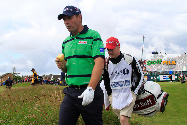 Padraig Harrington (IRL) walks off the 5th tee during Friday's Round 2 of the 141st Open Championship at Royal Lytham & St.Annes, England 20th July 2012 (Photo Eoin Clarke/www.golffile.ie)