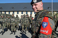 - Eurocorps, European multinational army corps, officier of the German military police and  French soldiers....- Eurocorps, corpo militare multinazionale europeo,..agente della polizia militare tedesca e militari francesi