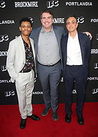 "NORTH HOLLYWOOD, CA - MAY 15: Tyrel Jackson Williams, Joel Church-Cooper, Hank Azaria, at IFC Hosts ""Brockmire"" And ""Portlandia"" EMMY FYC Red Carpet Event at Saban Media Center at the Television Academy, Wolf Theatre in North Hollywood, California on May 15, 2018. Credit: Faye Sadou/MediaPunch"