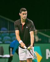 08-02-14, Netherlands,RotterdamAhoy, ABNAMROWTT,, Victor Hanescu (ROU)<br /> Photo:Tennisimages/Henk Koster