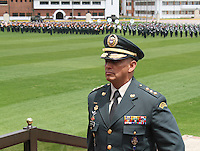 BOGOTA -COLOMBIA. 21-02-2014. General Jaime Lasprilla  nuevo comandante del ejercito de Colombia .Con la presencia del presidente Juan Manuel Santos y el ministro de defensa Juan Carlos Pinzon tomaron posesion de sus nuevos cargos los generales Juan Pablo Rodriguez nuevo comandante de las Fuerzas Militares de Colombia, general Javier Florez nuevo comandante del Estado Mayor Conjunto y el general Jaime Lasprilla comandante del Ejercito Nacional ceremonia celebrada en la Escuela Jose Maria Cordova. /  General Jaime Lasprilla.With the presence of President Juan Manuel Santos and Defense Minister Juan Carlos Pinzon took possession of their new positions general Juan Pablo Rodriguez new commander of the Military Forces of Colombia, General Javier Florez new comadante of the Joint Chiefs and General Jaime Lasprilla army commander ceremony at the Jose Maria Cordova School.  Photo: VizzorImage/ Felipe Caicedo / Staff