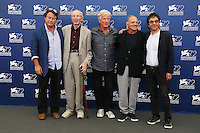 From left, Robert Lantos, Heinz Lieven, Jurgen Prochnow, Bruno Ganz and Atom Egoyan attend a photocall for the movie 'Remember' during the 72nd Venice Film Festival at the Palazzo Del Cinema in Venice, Italy, September 10, 2015.<br /> UPDATE IMAGES PRESS/Stephen Richie