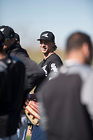 Chicago White Sox pitcher Michael Kopech during Spring Training Camp on February 25, 2018 at Camelback Ranch in Glendale, Arizona. (Zachary Lucy/Four Seam Images)