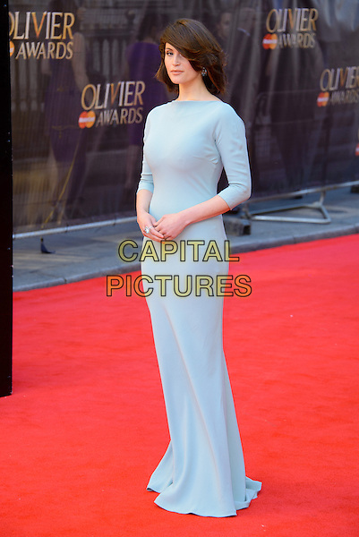 LONDON, ENGLAND - APRIL 13: Gemma Arterton attends the Olivier Awards 2014 at the Royal Opera House on April 13, 2014 in London, England. <br /> CAP/CJ<br /> &copy;Chris Joseph/Capital Pictures