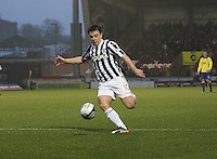 Paul McGowan in the St Mirren v Kilmarnock Clydesdale Bank Scottish Premier League match played at St Mirren Park, Paisley on 2.1.13.