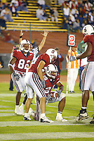 J.R. Lemon scores a touchdown during Stanford's 63-26 win over San Jose State on September 14, 2002 at Stanford Stadium.<br />