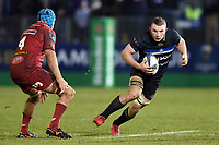 Sam Underhill of Bath Rugby in possession. European Rugby Champions Cup match, between Bath Rugby and the Scarlets on January 12, 2018 at the Recreation Ground in Bath, England. Photo by: Patrick Khachfe / Onside Images