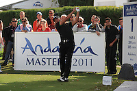 Pablo Larrazabal (ESP) during the 1st day at the  Andalucía Masters at Club de Golf Valderrama, Sotogrande, Spain. .Picture Fran Caffrey www.golffile.ie