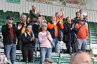 Blackpool fans applaud their team at the final whistle <br /> <br /> Photographer Kevin Barnes/CameraSport<br /> <br /> The EFL Sky Bet League One - Plymouth Argyle v Blackpool - Saturday 15th September 2018 - Home Park - Plymouth<br /> <br /> World Copyright &copy; 2018 CameraSport. All rights reserved. 43 Linden Ave. Countesthorpe. Leicester. England. LE8 5PG - Tel: +44 (0) 116 277 4147 - admin@camerasport.com - www.camerasport.com