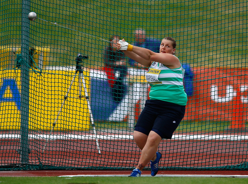 Photo: Richard Lane/Richard Lane Photography..Aviva World Trials & UK Championships athletics. 11/07/2009. Lucy Marshall in the women's hammer.