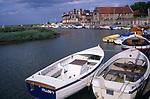 AE2KT4 Blakeney quayside boats Norfolk England