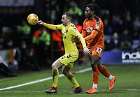 Fleetwood Town's Dean Marney competing with Luton Town's Pelly Ruddock<br /> <br /> Photographer Andrew Kearns/CameraSport<br /> <br /> The EFL Sky Bet League One - Luton Town v Fleetwood Town - Saturday 8th December 2018 - Kenilworth Road - Luton<br /> <br /> World Copyright &copy; 2018 CameraSport. All rights reserved. 43 Linden Ave. Countesthorpe. Leicester. England. LE8 5PG - Tel: +44 (0) 116 277 4147 - admin@camerasport.com - www.camerasport.com