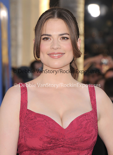 """Hayley Atwell at The Marvel Studios Premiere of """" Captain America : The First Avenger """"  held at The El Capitan Theatre in Hollywood, California on July 19,2011                                                                               © 2011 DVS/Hollywood Press Agency"""