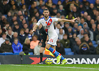9th November 2019; Stamford Bridge, London, England; English Premier League Football, Chelsea versus Crystal Palace; Gary Cahill of Crystal Palace controls the ball in defence - Strictly Editorial Use Only. No use with unauthorized audio, video, data, fixture lists, club/league logos or 'live' services. Online in-match use limited to 120 images, no video emulation. No use in betting, games or single club/league/player publications