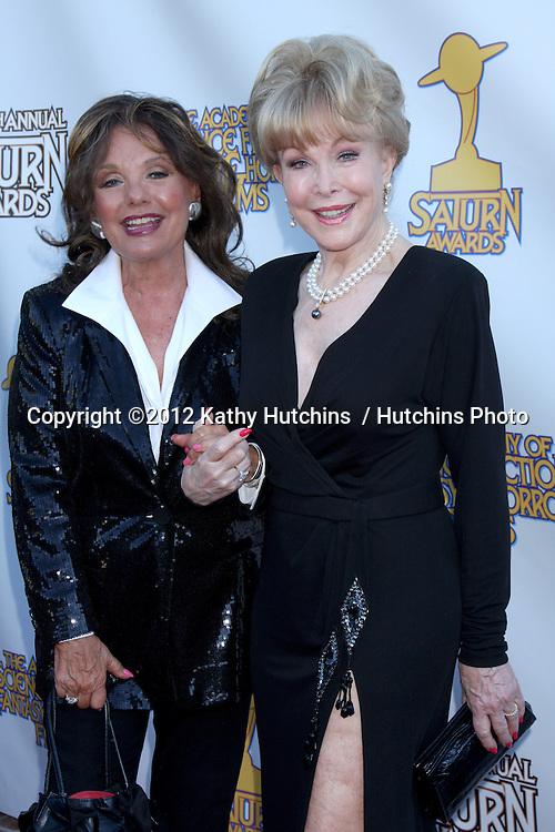 LOS ANGELES - JUL 26:  Dawn Wells, Barbara Eden arrives at the 2012 Saturn Awards at Castaways on July 26, 2012 in Burbank, CA