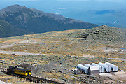 Mount Washington Cog on the summit of Mount Washington. Located in the White Mountains, New Hampshire USA