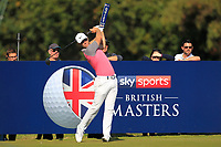 Lucas Bjerregaard (DEN) on the 2nd tee during the Pro-Am for the Sky Sports British Masters at Walton Heath Golf Club in Tadworth, Surrey, England on Tuesday 10th Oct 2018.<br />