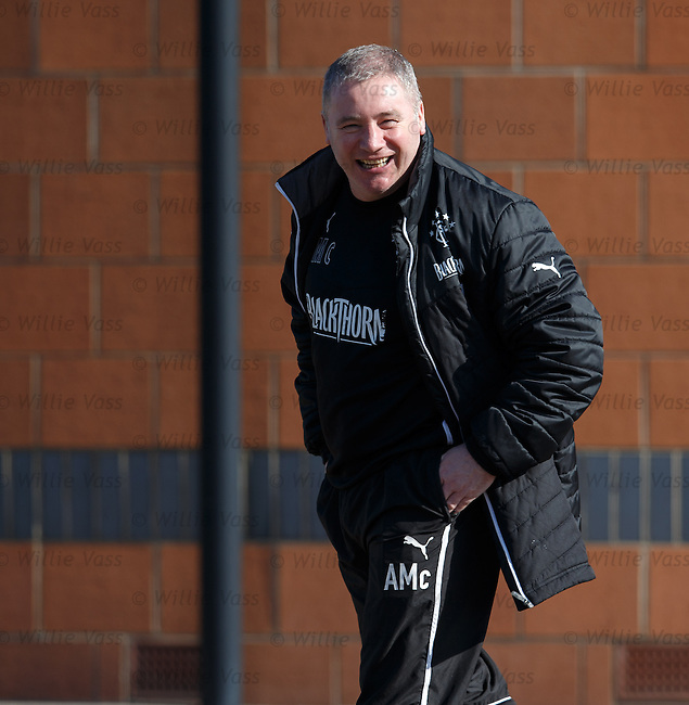 Ally McCoist at training this morning