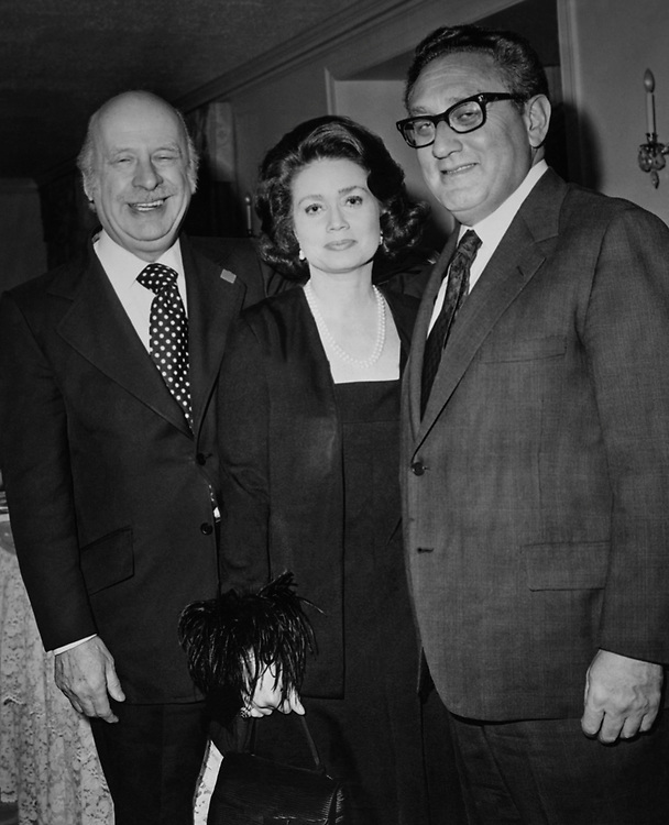 Rep. Seymour Halpern, R-N.Y., with wife and Secretary of State Henry Kissinger on the Capitol Hill Club, party for Secretary of State Henry Kissinger. (Photo by Mickey Senko/CQ Roll Call via Getty Images)