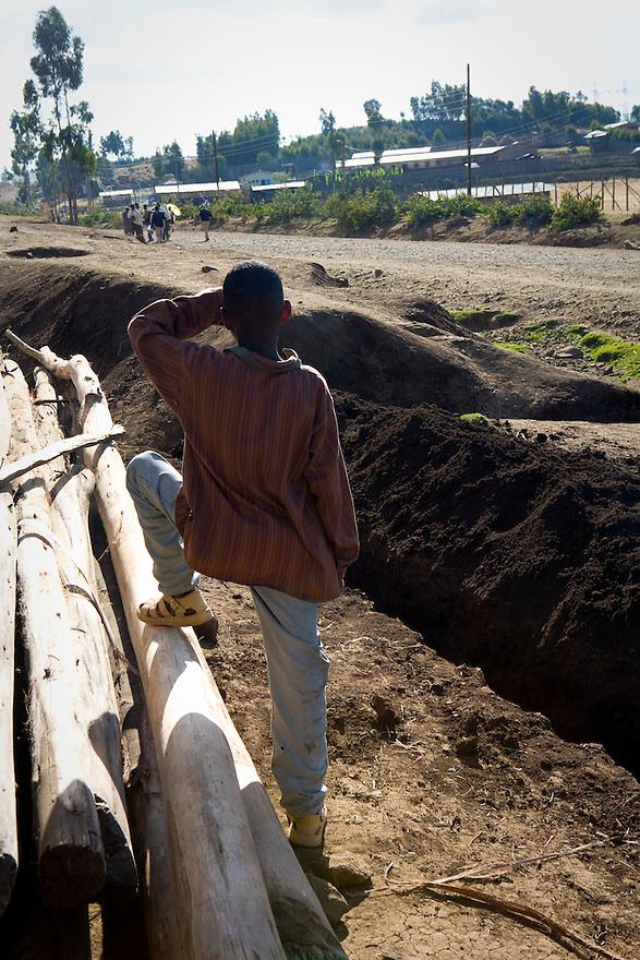 Road to Lailebela, Ethiopia on  November 28, 2008. Photo by Jasmin Shah.