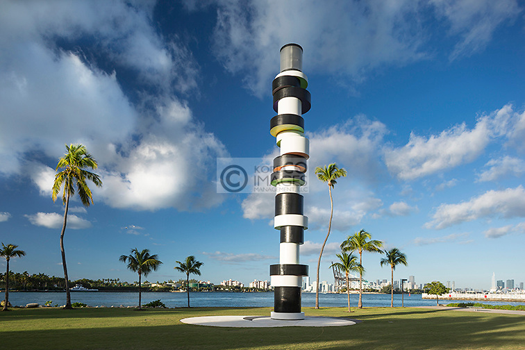 OBSTINATE LIGHTHOUSE SCULPTURE (©TOBIAS REHBERGER 2011) SOUTH POINTE PARK MIAMI BEACH FLORIDA USA