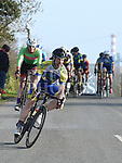Niall Craven riding for Drogheda Wheelers in the 10th Anniversary edition of the Peter Bidwell Memorial cycle race at Donore. Photo:Colin Bell/pressphotos.ie
