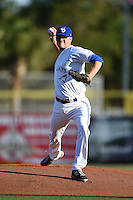 Dunedin Blue Jays pitcher Ben White (41) delivers a pitch during a game against the Daytona Cubs on April 16, 2014 at Florida Auto Exchange Stadium in Dunedin, Florida.  Dunedin defeated Daytona 5-1.  (Mike Janes/Four Seam Images)