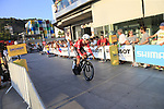 Matthias Brandle (AUT) Trek-Segafredo during Stage 1 of the La Vuelta 2018, an individual time trial of 8km running around Malaga city centre, Spain. 25th August 2018.<br /> Picture: Ann Clarke | Cyclefile<br /> <br /> <br /> All photos usage must carry mandatory copyright credit (© Cyclefile | Ann Clarke)