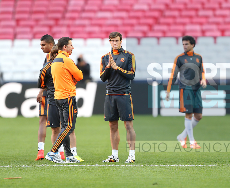 Real Madrids' Gareth Bale during training<br /> <br /> Real Madrid Training Session - Champions League Final  - Stadium of Light - Lisbon - Portugal - 23/05/2014  - Pic David Klein/Sportimage
