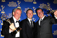 LOS ANGELES - JUN 20: Michael Barrett, Chris Prinzivalli, Michael Croiter at The 41st Daytime Creative Arts Emmy Awards Gala in the Westin Bonaventure Hotel on June 20th, 2014 in Los Angeles, California