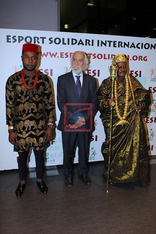 XIV Sopar Solidari de Nadal.<br /> Esport Solidari Internacional-ESI.<br /> Josep Maldonado & el rey etnico de Benin, Yeto Kandji Otti.