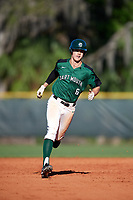 Dartmouth Big Green designated hitter Dustin Shirley (6) running the bases during a game against the Northeastern Huskies on March 3, 2018 at North Charlotte Regional Park in Port Charlotte, Florida.  Northeastern defeated Dartmouth 10-8.  (Mike Janes/Four Seam Images)