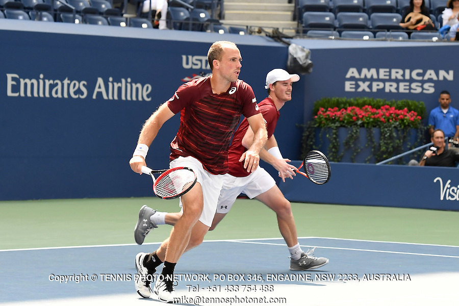 JAMIE MURRAY (GBR), BRUNO SOARES (BRA)<br /> <br /> TENNIS - THE US OPEN - FLUSHING MEADOWS - NEW YORK - ATP - WTA - ITF - GRAND SLAM - OPEN - NEW YORK - USA - 2016  <br /> <br /> <br /> <br /> &copy; TENNIS PHOTO NETWORK10