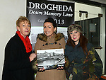 Geraldine Clarke, Carol Keeley and Kelly Kierans pictured at the Christmas fair on Laurence street as part of the Drogheda Christmas Bonanza. Photo:Colin Bell/pressphotos.ie