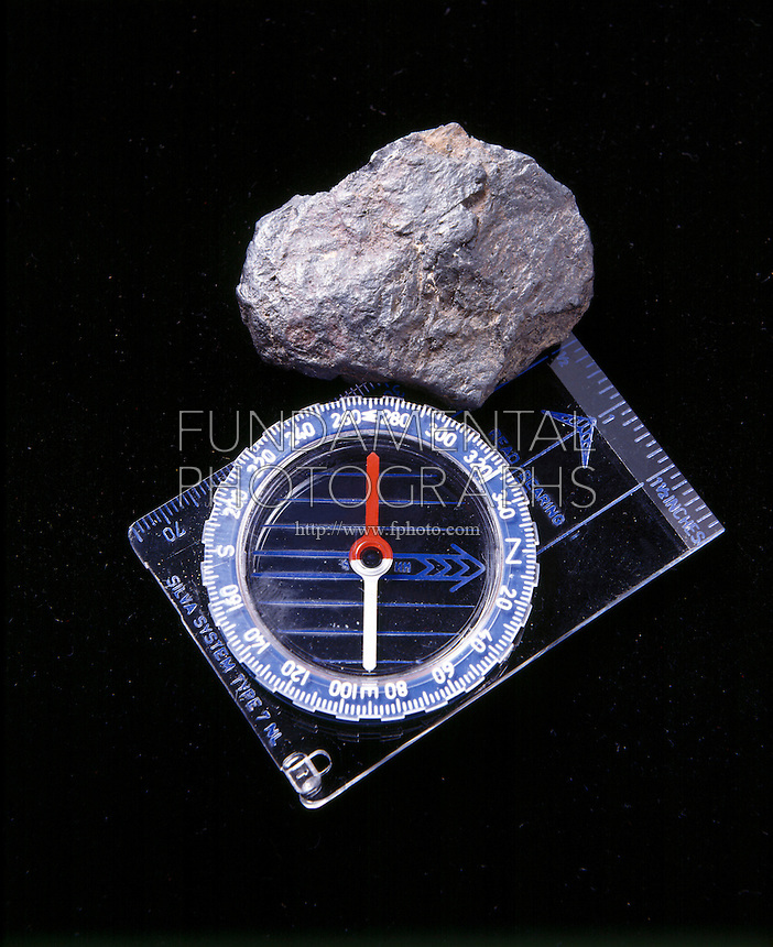 MAGNETITE (LODESTONE) WITH COMPASS<br />