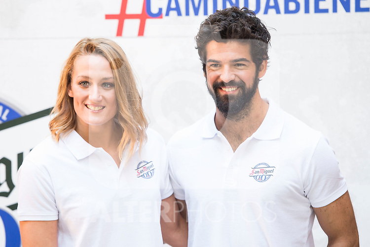 Spanish Swimmer Mireia Belmonte and Spanish Actor Miguel Angel Muñoz attends to the presentation of #Caminobienestar of San Miguel in Madrid, June 05, 2017. Spain.<br /> (ALTERPHOTOS/BorjaB.Hojas)