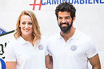 Spanish Swimmer Mireia Belmonte and Spanish Actor Miguel Angel Mu&ntilde;oz attends to the presentation of #Caminobienestar of San Miguel in Madrid, June 05, 2017. Spain.<br /> (ALTERPHOTOS/BorjaB.Hojas)