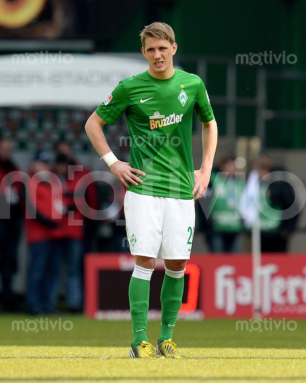 FUSSBALL   1. BUNDESLIGA   SAISON 2012/2013    28. SPIELTAG SV Werder Bremen - FC Schalke 04                          06.04.2013 Nils Petersen (SV Werder Bremen) ist enttaeuscht
