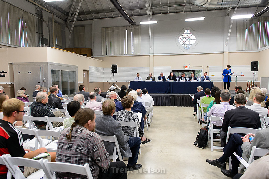 Trent Nelson  |  The Salt Lake Tribune<br /> <br /> The Prison Relocation Commission will hold a public information meeting with residents from Salt Lake City about the proposed prison site at I-80 and 7200 West. Salt Lake City Mayor Ralph Becker will be in attendance<br /> , Wednesday May 20, 2015.
