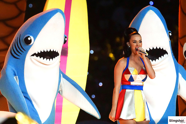 Katy Perry performs during the Pepsi Halftime show at Super Bowl XLIX on Sunday, Feb. 1, 2015, in Glendale, Ariz.