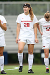 07 September 2014: Arkansas' Margaret Power. The University of North Carolina Tar Heels played the University of Arkansas Razorbacks at Koskinen Stadium in Durham, North Carolina in a 2014 NCAA Division I Women's Soccer match. UNC won the game 2-1.