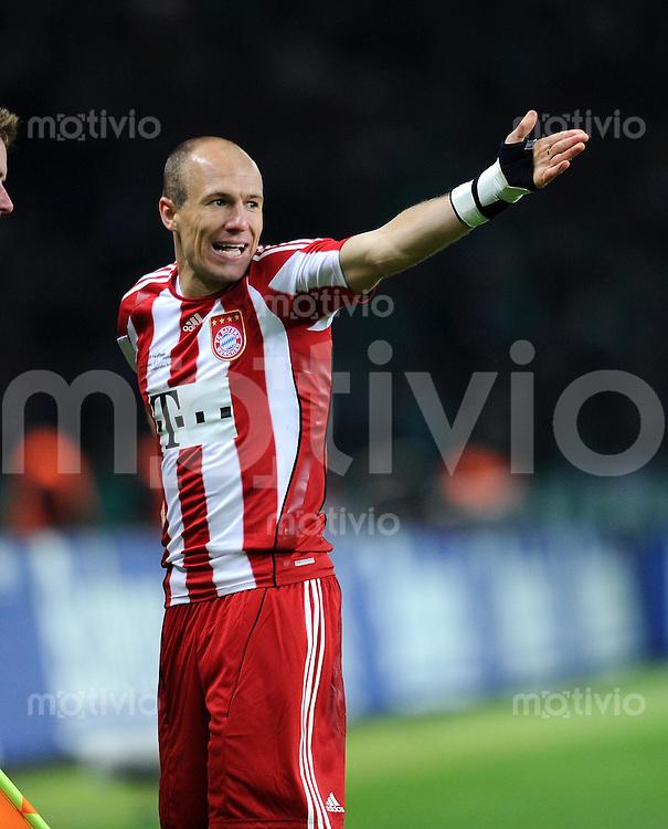 FUSSBALL      DFB POKAL FINALE       SAISON 2009/2010 SV Werder Bremen - FC Bayern Muenchen    15.05.2010 Arjen Robben (FCB)